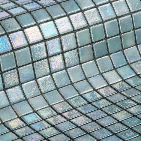 Мозаика Iris Cuarzo - серый перламутр