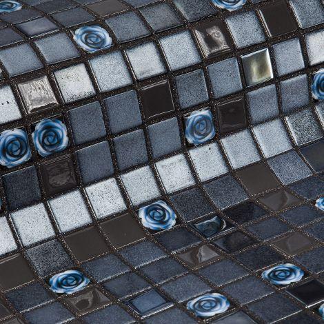 Roses коллекция мозаики Topping — коричневый микс