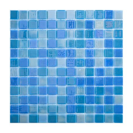 Мозаика Lux 403 голубого цвета Light Blue