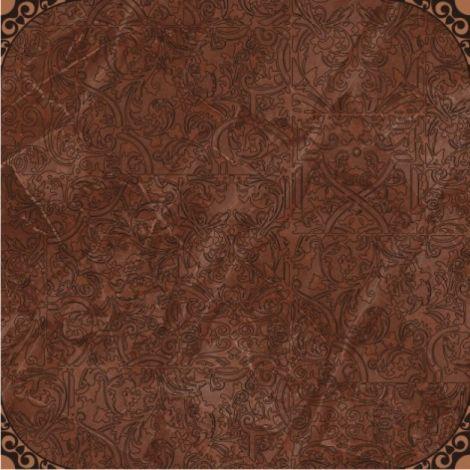 Керамогранит Меркурий 4 каштан 40х40 (ликвидация) коричневого цвета с орнаментом