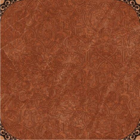 Керамогранит Меркурий 3 терракотовый 40х40 терракотового цвета с орнаментом