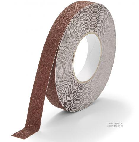 Коричневая абразивная противоскользящая лента Heskins шириной 2,5 см