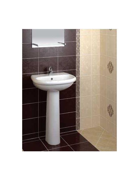 Плитка Венеция Керамин в интерьере ванной комнаты.