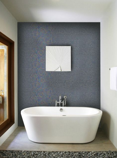 Мозаика Iris Cuarzo в интерьере ванной комнаты
