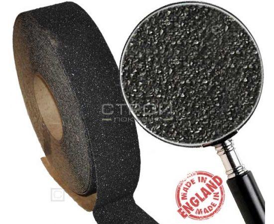 Черная противоскользящая лента, ширина 2,5 см, длина 9 м, грубая зернистость