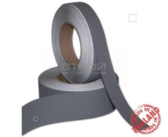 Серая виниловая противоскользящая лента Aqua Safe. Ширина: 2,5 и 5 см