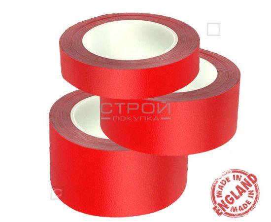 Красная лента виниловая самоклеющаяся Resilient, с противоскользящим эффектом. Ширина: 2,5; 5; 10 см, Длина: 18,3 метра