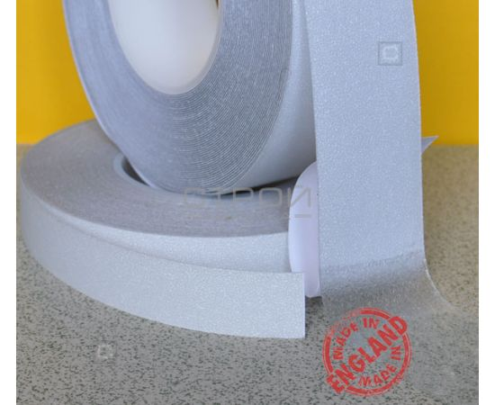 Прозрачные виниловые противоскользящие ленты Aqua Safe, Длина рулона: 18,3 метра, Ширина: 2,5 и 5 см