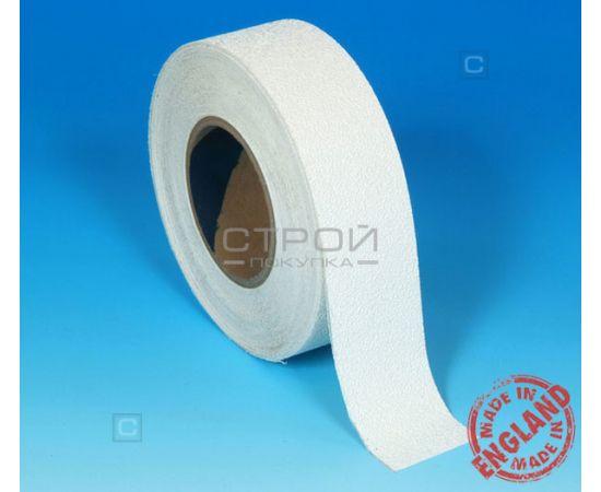 Белая виниловая противоскользящая лента Aqua Safe, Длина: 18 м, Ширина: 5 см