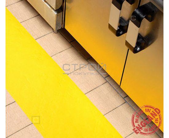 Желтая лента виниловая самоклеющаяся, противоскользящая Resilient, Ширина: 10 см, Длина: 9 метров