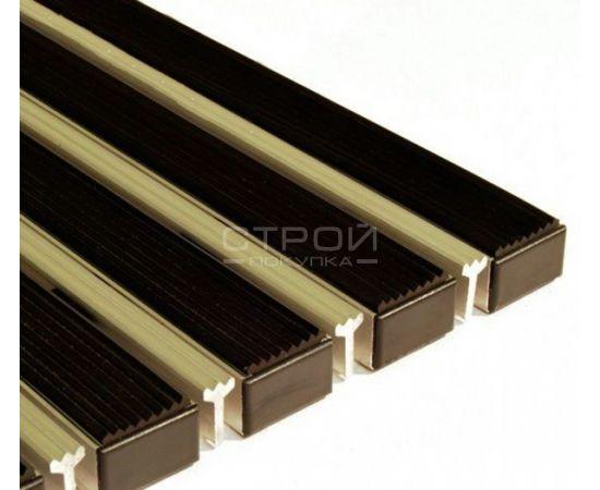 Грязезащитное покрытие на алюминиевом золотом профиле. Вставки - резина