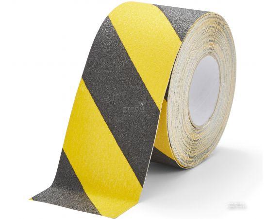 Черно-желтая абразивная противоскользящая лента Heskins шириной 10 см