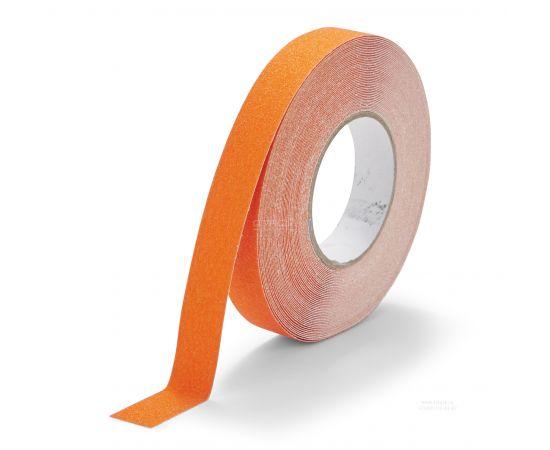 Оранжевая абразивная  противоскользящая лента Heskins шириной 2,5 см