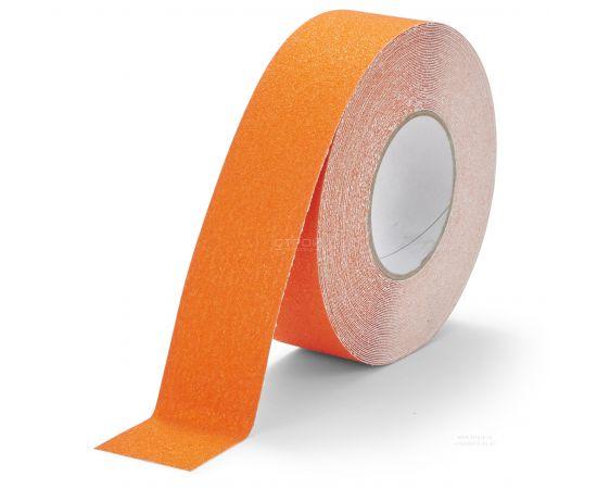 Оранжевая абразивная  противоскользящая лента Heskins шириной 5 см