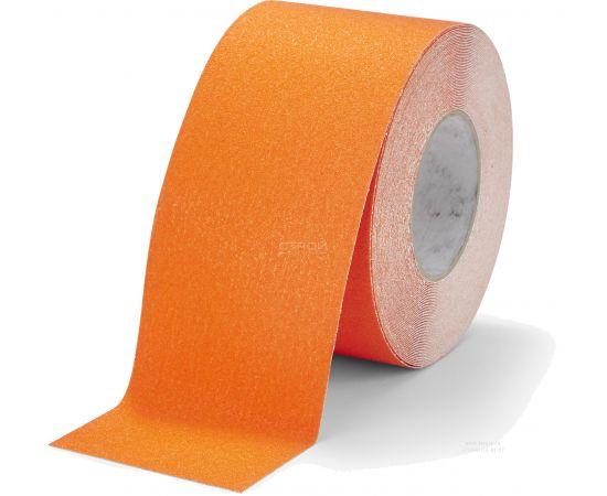 Оранжевая абразивная  противоскользящая лента Heskins шириной 10 см