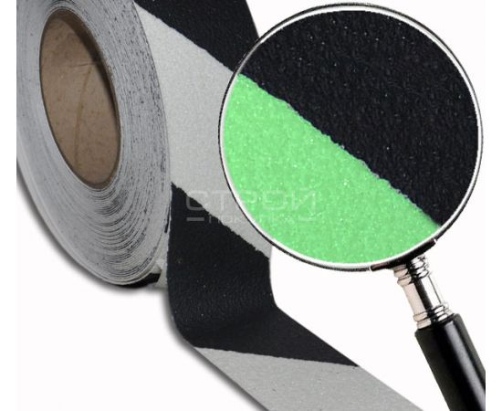 Cветящаяся лента - сигнальная разметка с противоскользящим абразивным слоем