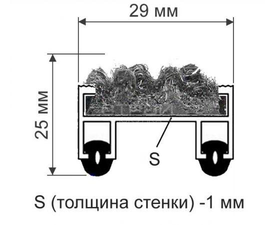 Схема покрытия с вставками: ворсовая, резиновая, скребок