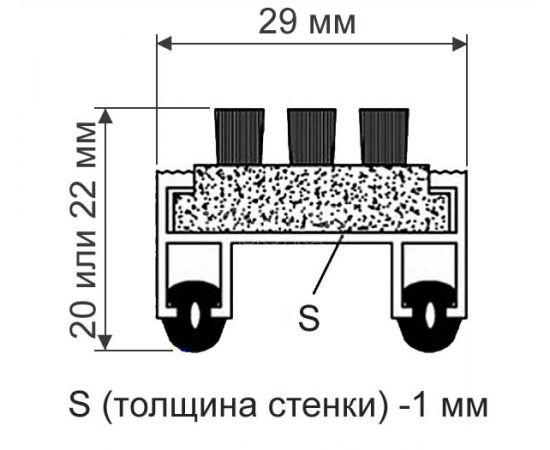 Схема покрытия с ворсовой, щетинистой и резиновой вставкой
