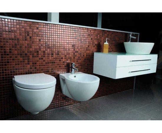 Мозаика матовая Leo Space в интерьере ванной комнаты.