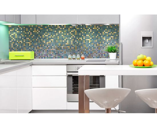 Мозаика Marigold Topping (Испания, Ezarri) оживит любой интерьер кухни или комнаты.