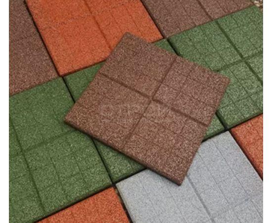 Плитка из резиновой крошки с текстурой сетка
