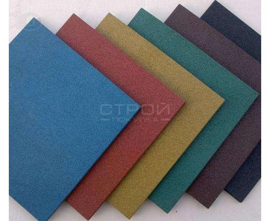 Серая плитка из резиновой крошки 50х50х1.6 см Comfort