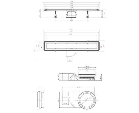 Схематические размеры Confluo Premium Line