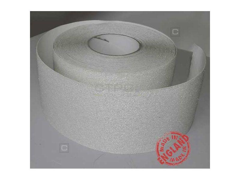 Белая противоскользящая лента в сумерках, шириной 100 мм